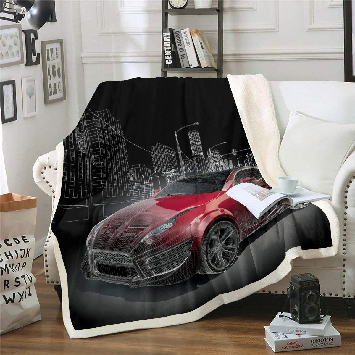 Racing Car Fleece Blanket