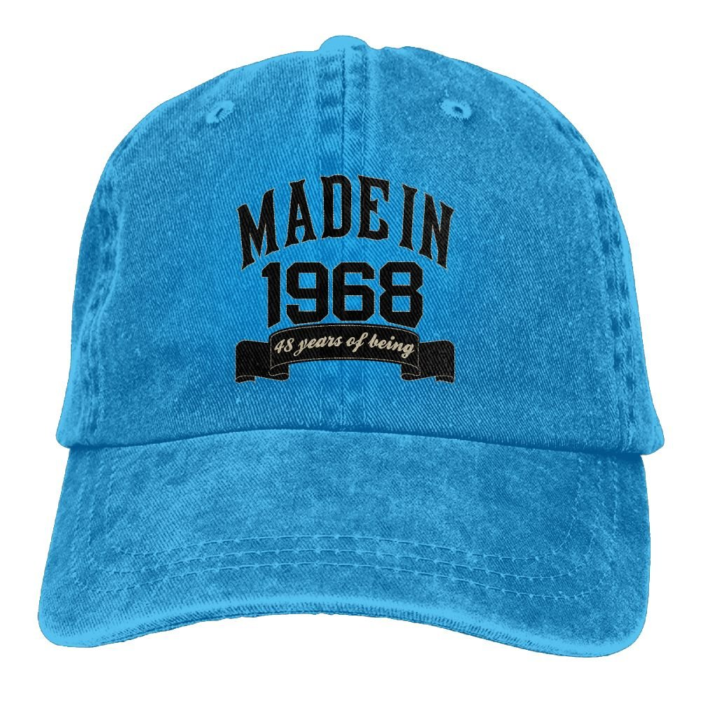 Trableade Made In 1968 48 Years Of Being 48th Birthday Unisex Sport Adjustable Structured Baseball Cowboy Hat