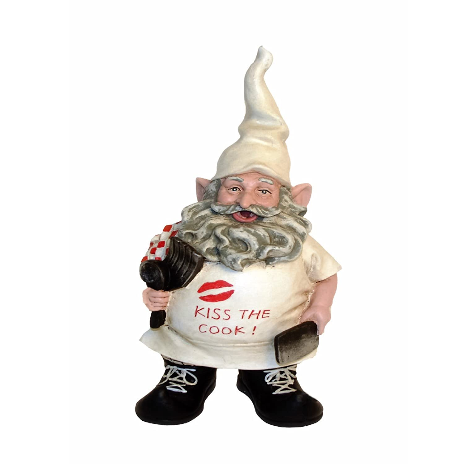 nowaday gnomes chef the cooking gnome with kiss the
