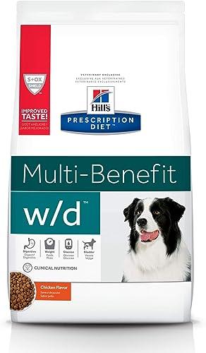 Hill's-Prescription-Diet-w/d-Multi-Benefit-Digestive/Weight/Glucose/Urinary-Management-Chicken-Flavor-Dry-Dog-Food