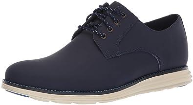 13b501d321b Cole Haan Men s Original Grand Plain Toe Sneaker Blazer Blue Matte Leather  7 ...
