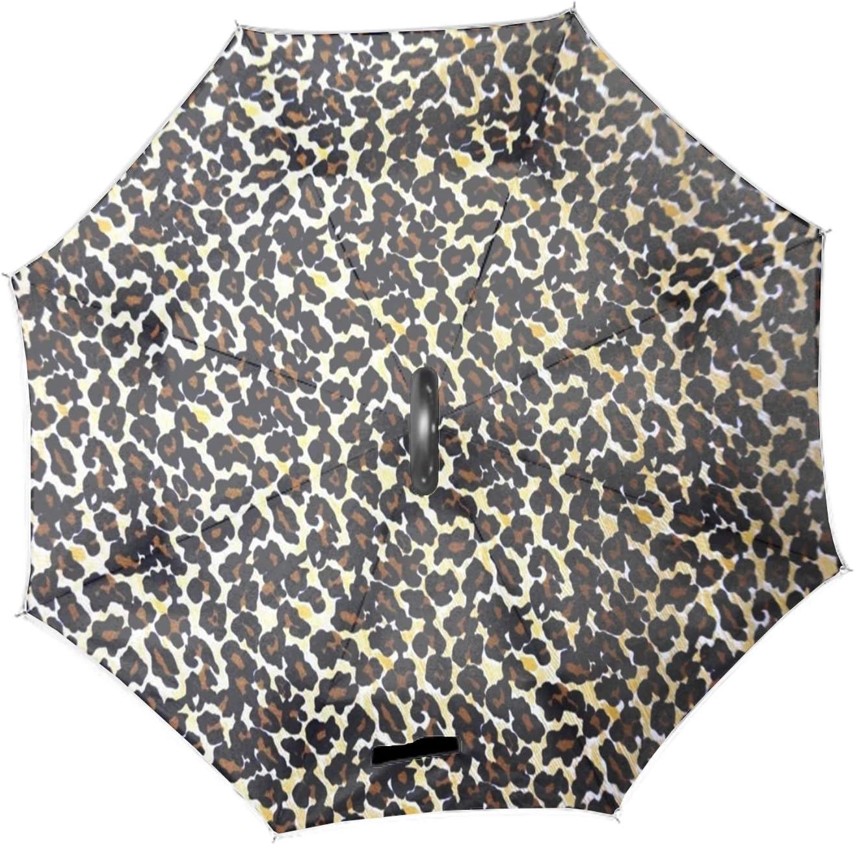 Cheetah Spot Inverted Umbrella Umbrellas for Women Reverse Umbrella Umbrella Windproof