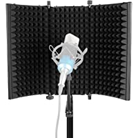 Neewer Professional Studio Recording Microphone Isolation Shield. High Density Absorbent Foam is Used to Filter Vocal…