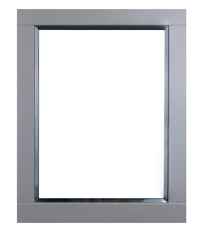 Eviva EVMR412-24X30-GR Aberdeen 24 inch Framed Bathroom Wall Mirror Combination, Grey GHP-USA