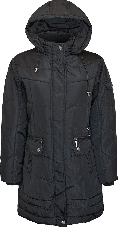 907828ac1 Kentex Online Womens Long Jacket Heavy Padded Hooded Jacket Long ...