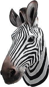 Things2Die4 Botswana Zebra Head Wall Mount Statue Bust