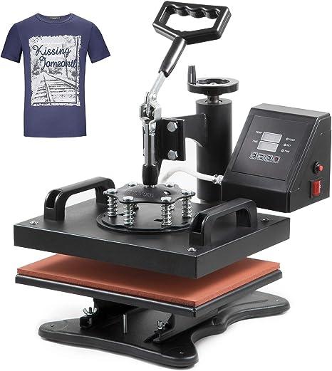 12x 15 Swing Away 8 in 1 / SURPCOS 8 in 1 Heat Press Machine 12x 15 inch Professional Digital Transfer Sublimation Swing-Away for Hat Mug Plate Cap T-Shirt