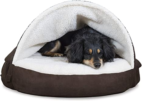 Available in Multiple Colors /& Styles Orthopedic Round Cuddle Nest Snuggery Burrow Blanket Pet Bed w// Removable Cover for Dogs /& Cats Furhaven Pet Dog Bed