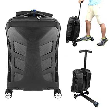 honeyall Maleta patinete Maleta 21 pulgadas mano luggage ...