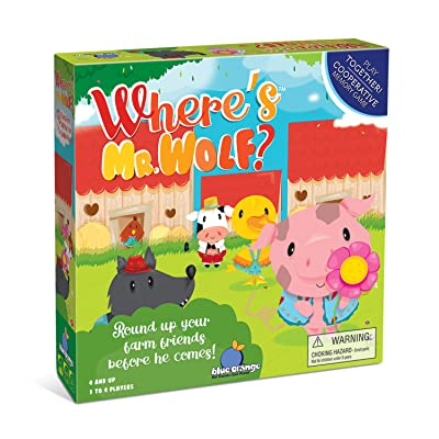 Blue Orange Where's Mr Wolf? Cooperative Kids Game: Toys & Games