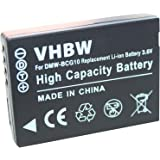 Batería Ion Litio para PANASONIC. Apta para: LUMIX DMC-TZ8, DMC-TZ10, DMC-ZX3 TZ6 TZ7 ZX1 Reemplaza a: DMW-BCG10 y funciona (1.0 / 1.1 / 1.2 / 1.3)