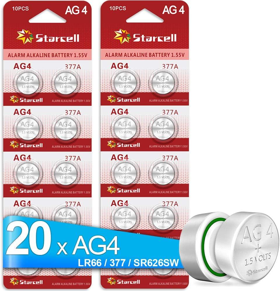 ACT 20 X AG4 LR626 377 SR626 606 Watch Battery Batteries