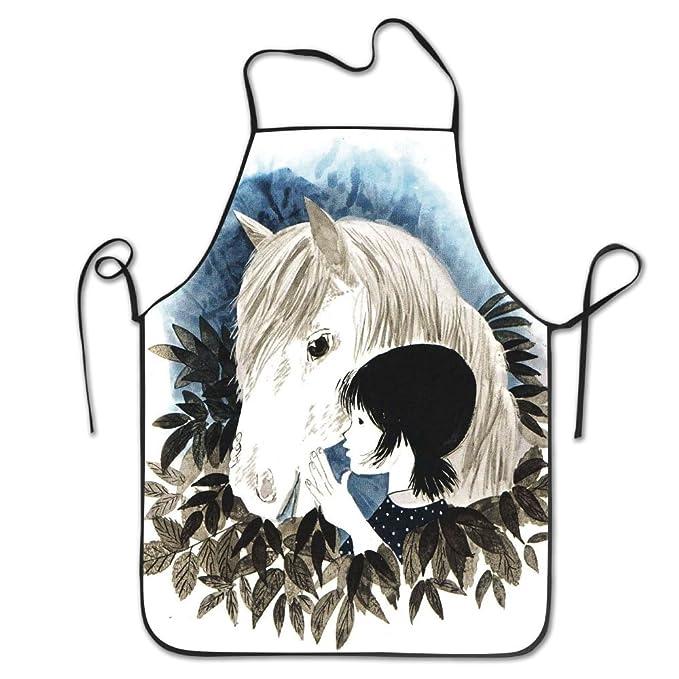 Delantal para el cuello de caballo con niña, para mujeres y ...