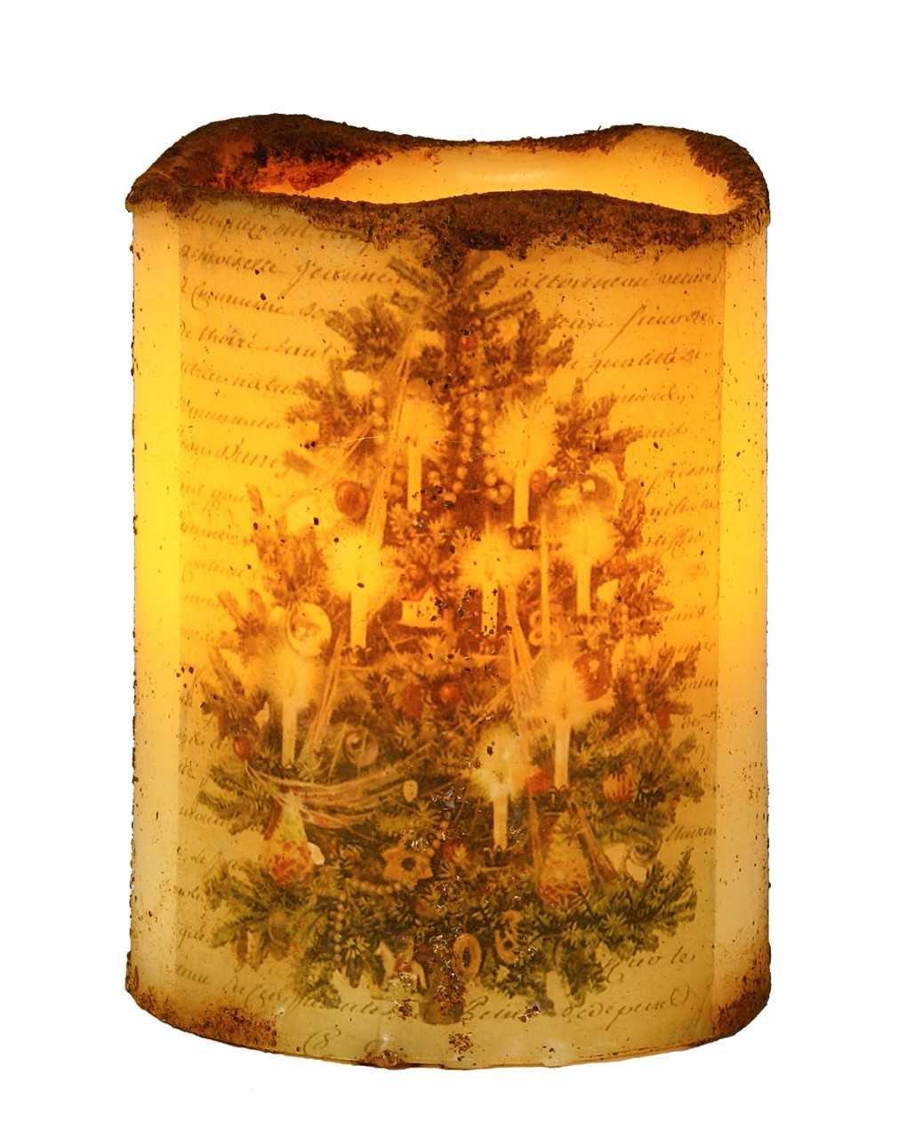 クリスマスキャンドルFlameless Candle Decorationウィンドウキャンドルバッテリ電源4インチツリー B075ZZX47M