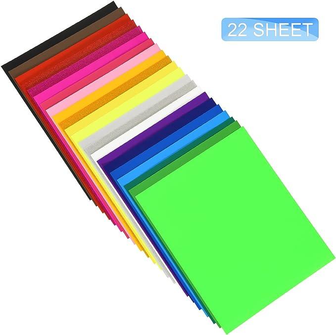 Silhouette /& Cameo 12Pack Assorted Colors Iron on Vinyl Bundle JANDJPACKAGING HTV Heat Transfer Vinyl Bundle 12 x 5ft HTV Vinyl Rolls for Cricut