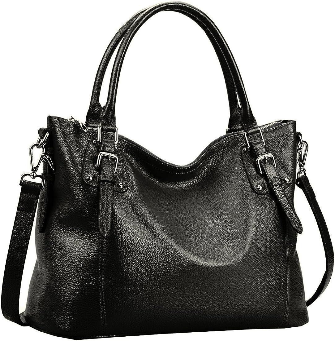 Ladies Womens Premium Quality Genuine Leather Handbag Tote Shoulder Bag Satchel
