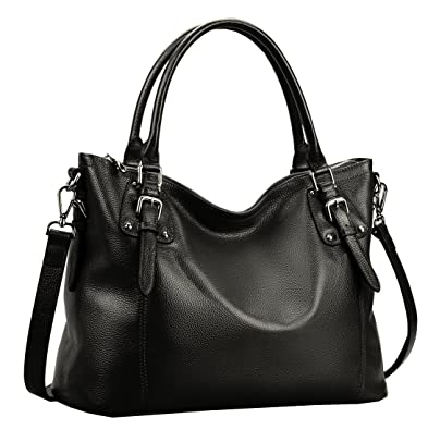 Amazon.com: Heshe Womens Leather Vintage Handbags Top Handle Bags ...