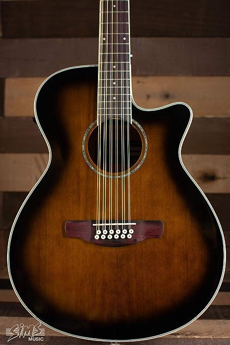 Ibanez aeg1812ii AEG Electroacústica guitarra de 12: Amazon.es ...