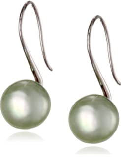 3ade32d4d Amazon.com: Honora Pearl Sterling Silver Earrings Freshwater ...