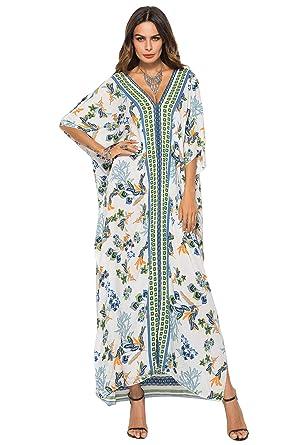 Vestido Largo Verano Mujer Bohemio Maxi Dress Estampado Africano ...