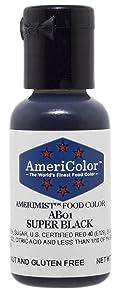 AmeriColor AmeriMist Super Black Airbrush Food Color, .65 Ounce