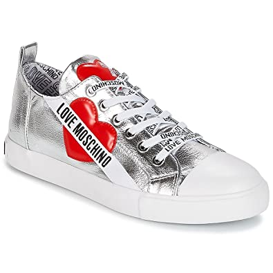Love Moschino Chaussures Femme Baskets Argentés Automne-Hiver 2019 ... d9fa800fa369