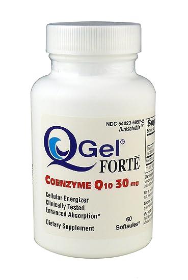 Amazon.com: q-gel ® Forte (30mg ™ Hidrosoluble CoQ10/60 ...