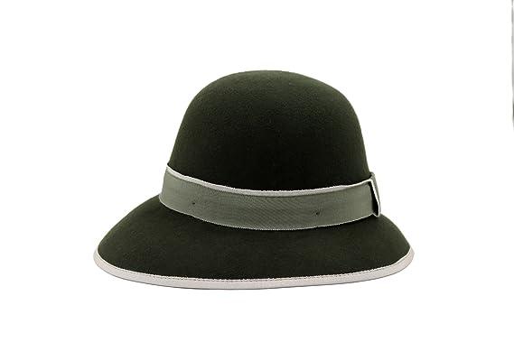 AccessHeadwear Alpas Ladies Greenish Black 100% Wool Felt Cloche Hat ... 9f2ddaadca6