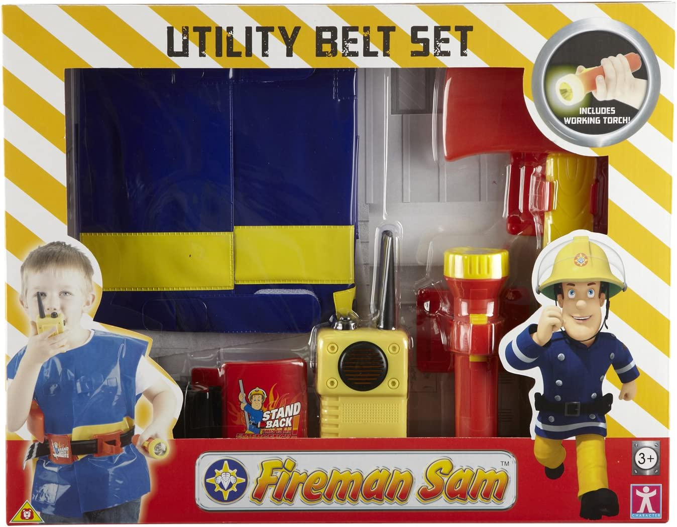 Real Heroes Firefighter Deluxe Play Set avec casque et accessoires