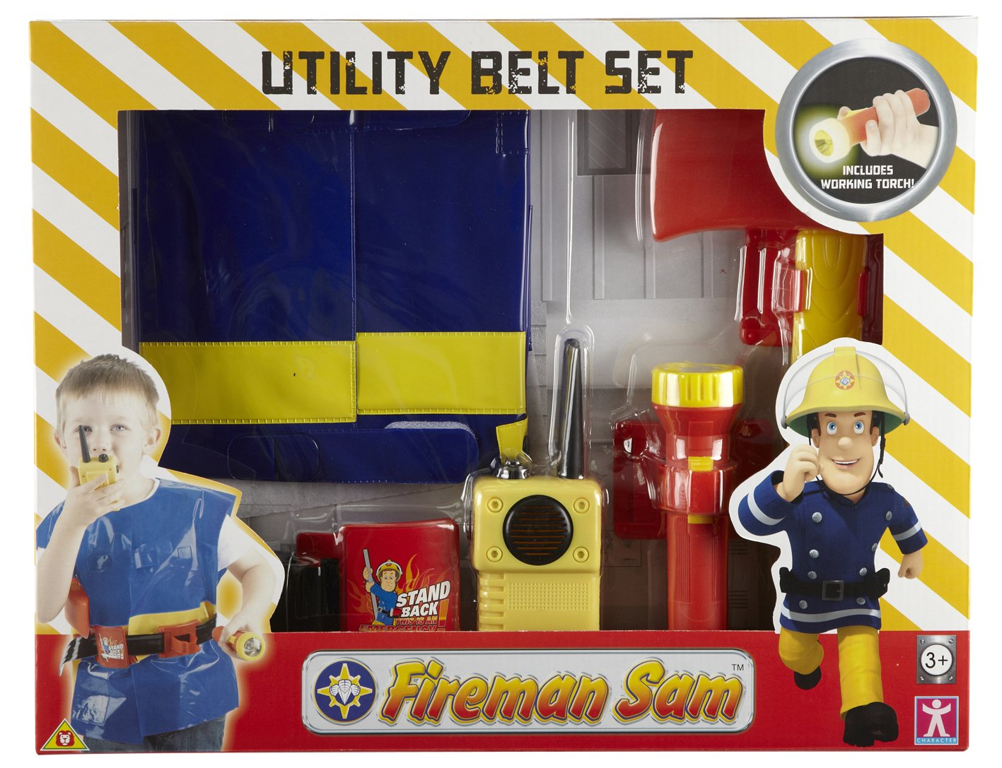 Fireman Sam Utility Belt with Jacket /& Accessories