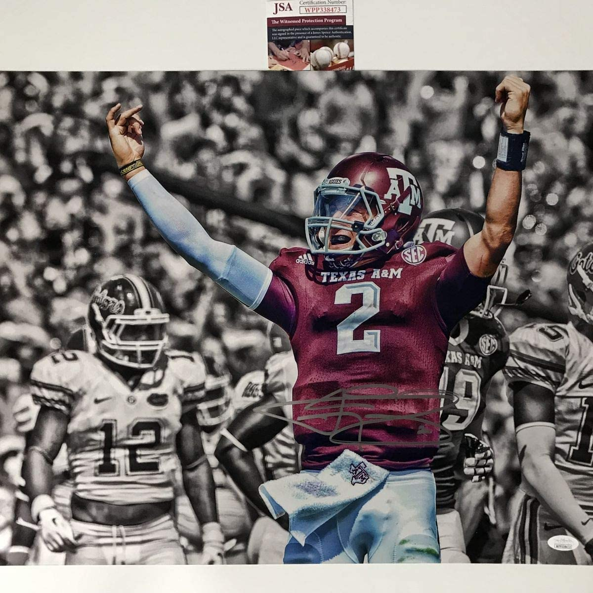 Autographed Signed Johnny Manziel Money Sign Texas A M Aggies 16x20 College Football Photo Jsa Coa At Amazon S Sports Collectibles Store
