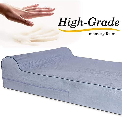 KOPEKS – Orthopedic Memory Foam Dog Bed With Pillow and Waterproof Liner Anti-Slip Bottom