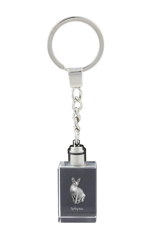 Sphynx Art Dog Ltd Keychain Exceptional Gift Cat Crystal Keyring