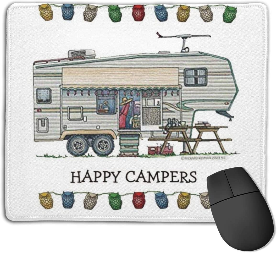 Non-Slip Rubber Mouse Pad for Cute RV Vintage Glass Egg Camper Travel Trailer Gaming Mouse Pad
