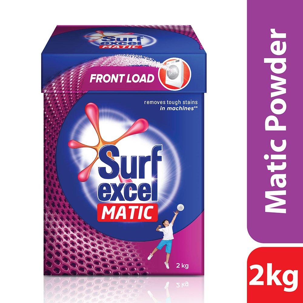 Surf Excel Matic Front Load Detergent Powder, 2 kg product image