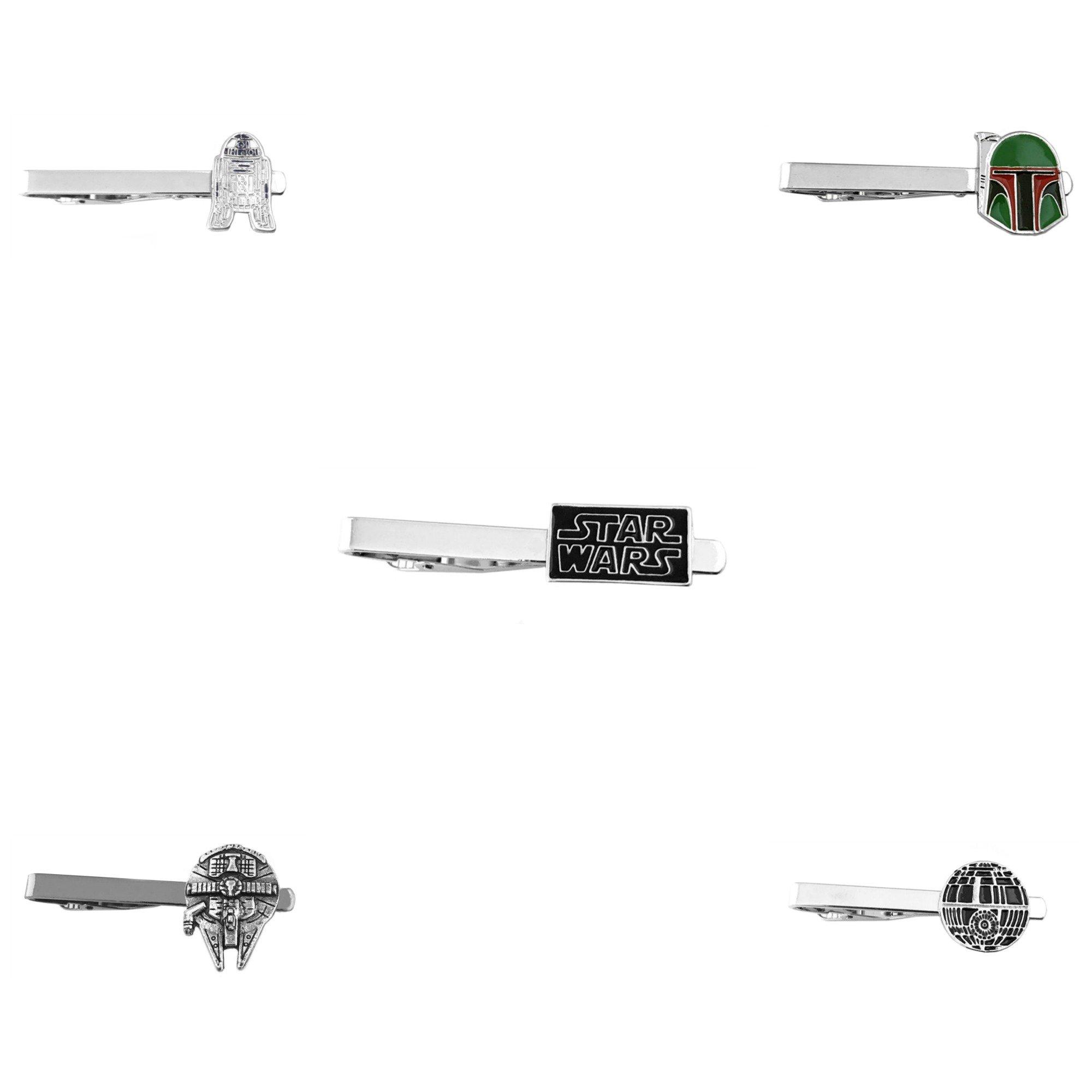 Outlander Star Wars - Assorted Assortment - Tiebar Tie Clasp Set of 5 Wedding Superhero Logo w/Gift Box by Outlander (Image #2)