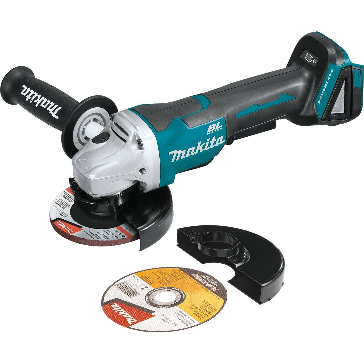 """Makita XAG11Z 18V LXT Lithium-Ion Brushless Cordless 4-1/2"""" / 5'' Paddle Switch Cut-Off/Angle Grinder with Electric Brake - Tool Only"""
