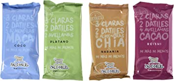Barritas Proteicas Paleo 100% naturales - Altas en Proteína - Pack Ahorro 4 sabores (15x50g)
