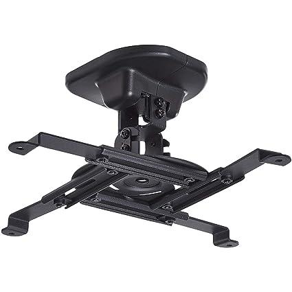 AmazonBasics - Soporte de montaje basculante para proyector, montaje en pared o techo, capacidad de carga de hasta 15 kg, Negro