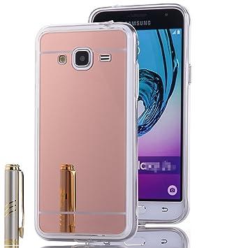7ac88904f84 LXHGrowH Funda Espejo Silicona Gel TPU para Samsung Galaxy Core Prime G360  Color Rosado: Amazon.es: Electrónica