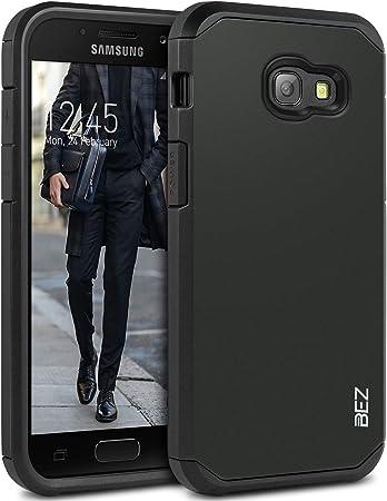BEZ Coque pour Samsung A3 2017, Housse Etui Antichoc Samsung Galaxy A3 2017 Survivor Shockproof Double Protection Double Ultra Resistante - Noir