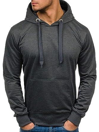 d60b346d5209d BOLF Homme Veste à mi-Saison Sweatshirt avec Capuche Style Sportif Street  Star 7038 Anthracite