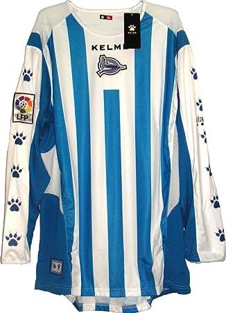 Deportivo Alaves Camiseta Futból 2005-06 Blanco-Azul Manga Larga Talla L