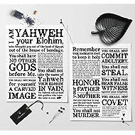 10 Commandments | Exodus 20 - Set of 2 - Artisanal Giclée Art Prints [unframed]