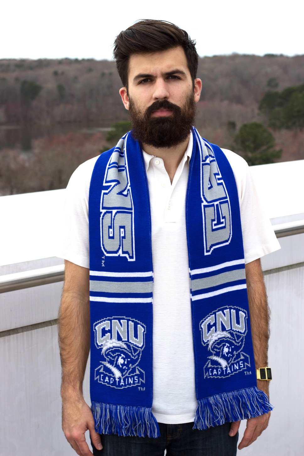 CNU Captains Knitted Classic Christopher Newport University Scarf