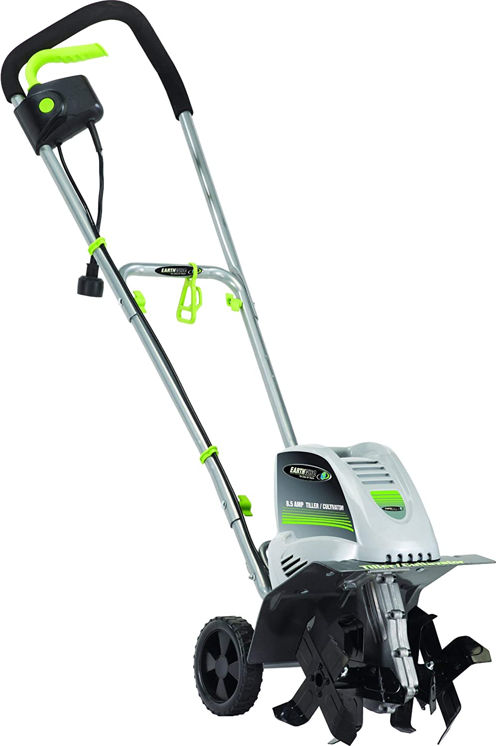 Earthwise TC70001 Electric Corded Tiller, 11-Inch, 8.5-Amp, Grey Renewed