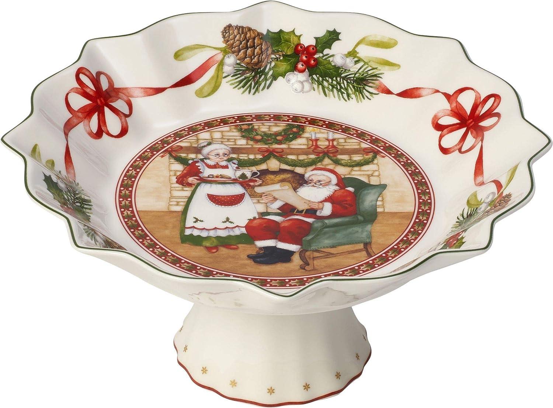 Gr/ün//Rot//Wei/ß Premium Porzellan Villeroy /& Boch Toys Fantasy Kleine Schale auf Fu/ß Pl/ätzchen