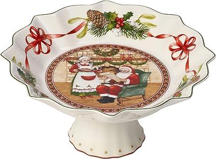 Villeroy & Boch Toys Fantasy Bol con pie Casa de Papá Noel, Porcelana Premium,