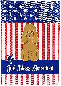 Caroline's Treasures BB3064GF Patriotic USA Poodle Tan Flag Garden Size, Small, Multicolor
