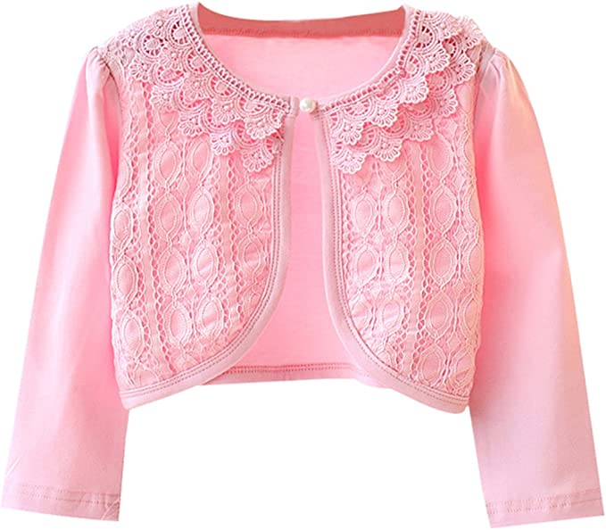 Infant Kids Baby Little Girls Lace Princess Bolero Cardigan Shrug Tops Clothes P